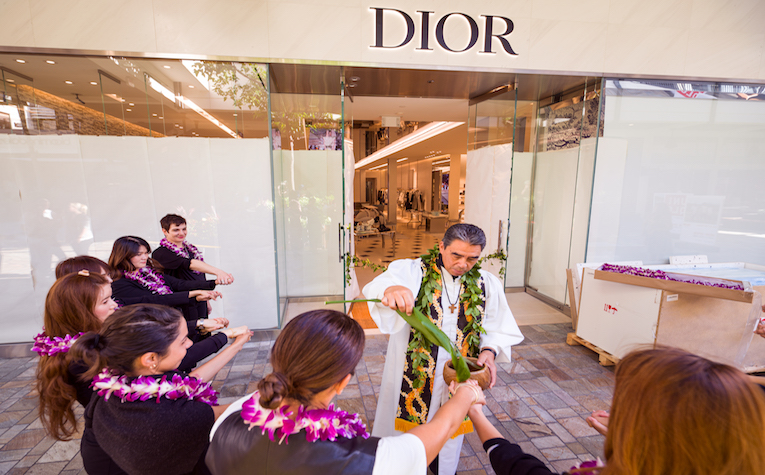 Blessing ceremony at Dior