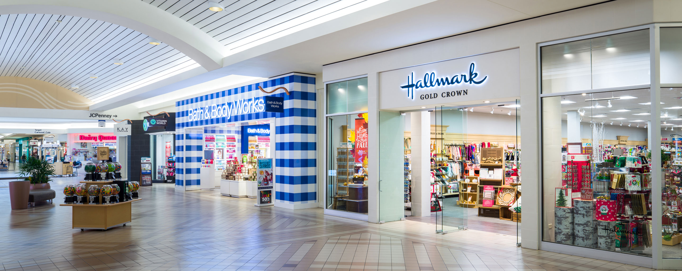 Bath and Body Works and Hallmark at River Hills Mall