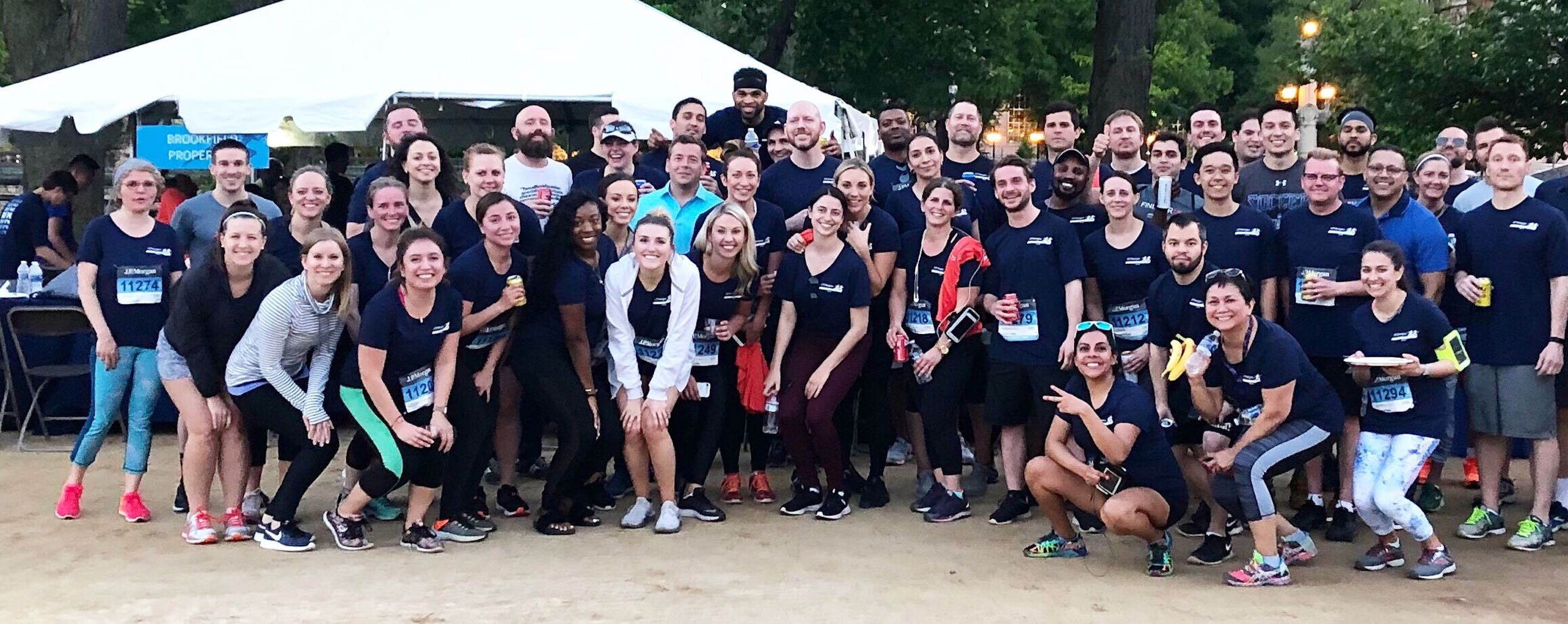 Employees run at the Chase Corporate Challenge