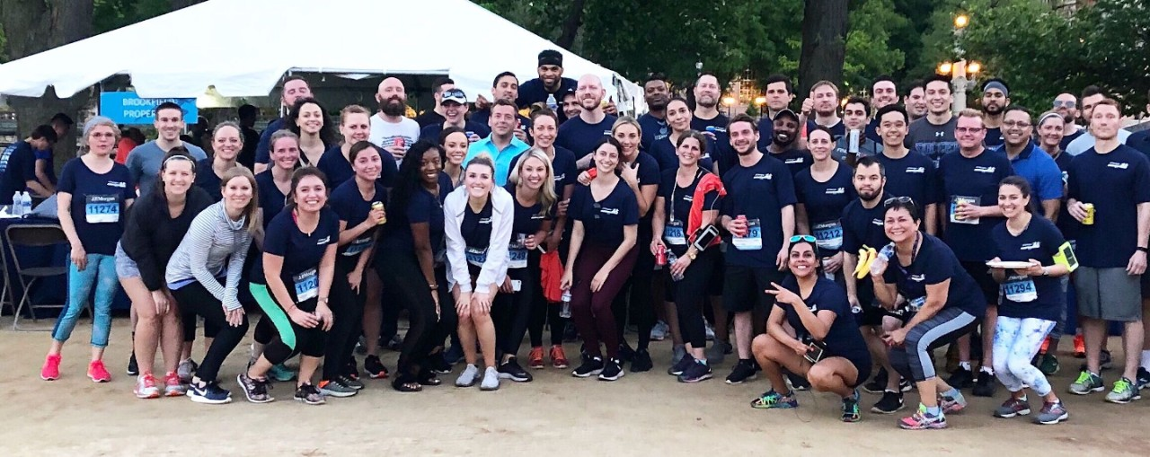 Brookfield Properties employees participate in the Chase Corporate Challenge