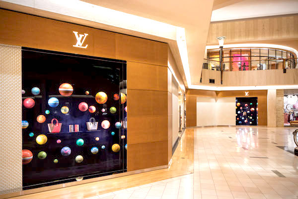 Louis Vuitton window shines bright