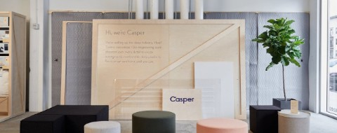 Inside the Casper store at Oakbrook Center