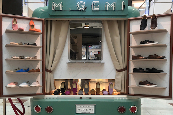 M.Gemi pop up truck filled with merchandise