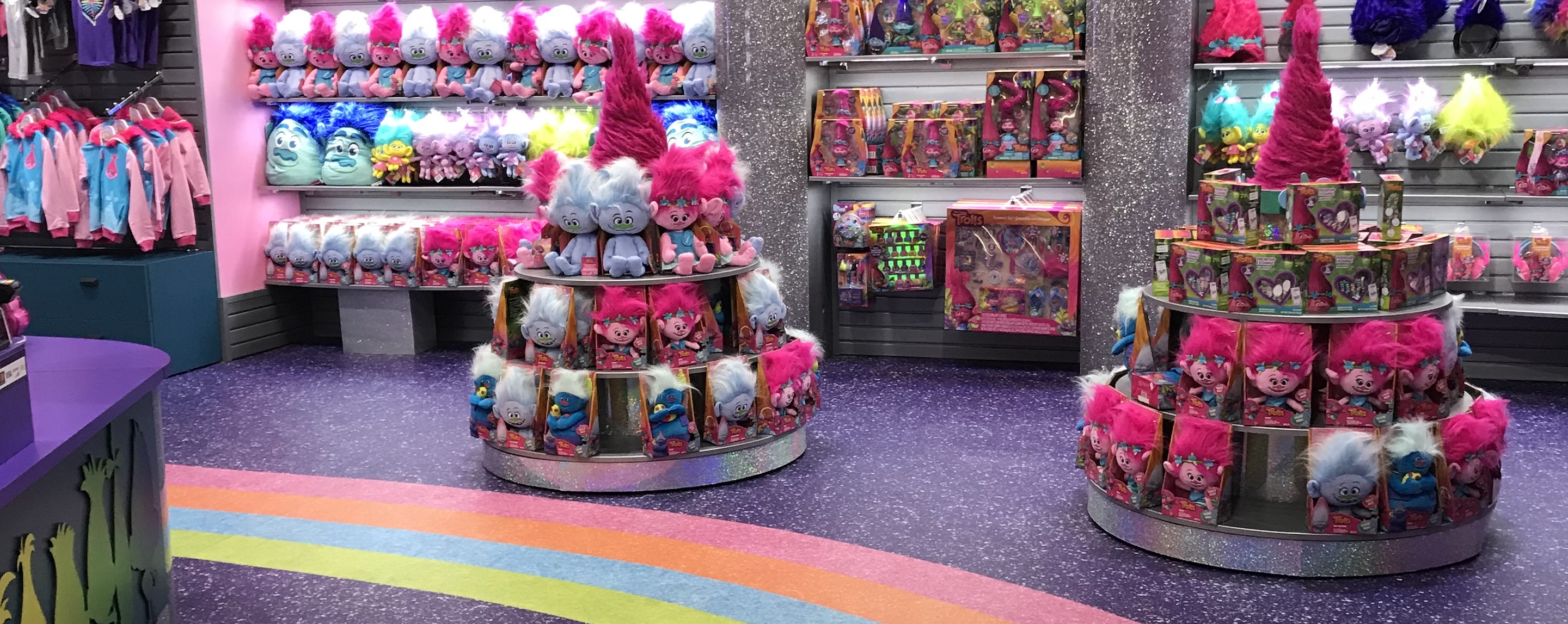 Gift shop and cafe at The Trolls Experience