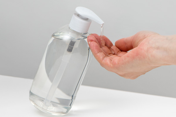 Bottle of hand sanitizer