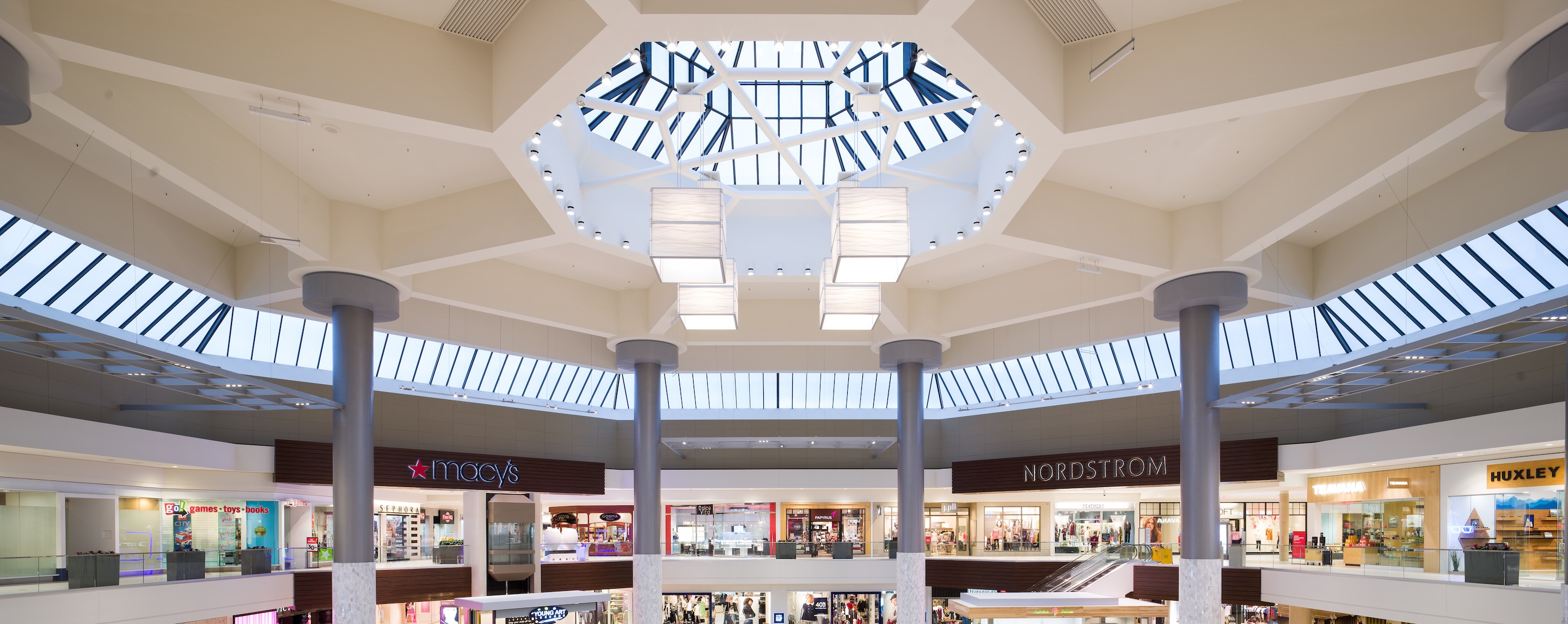 Photo of mall ceiling