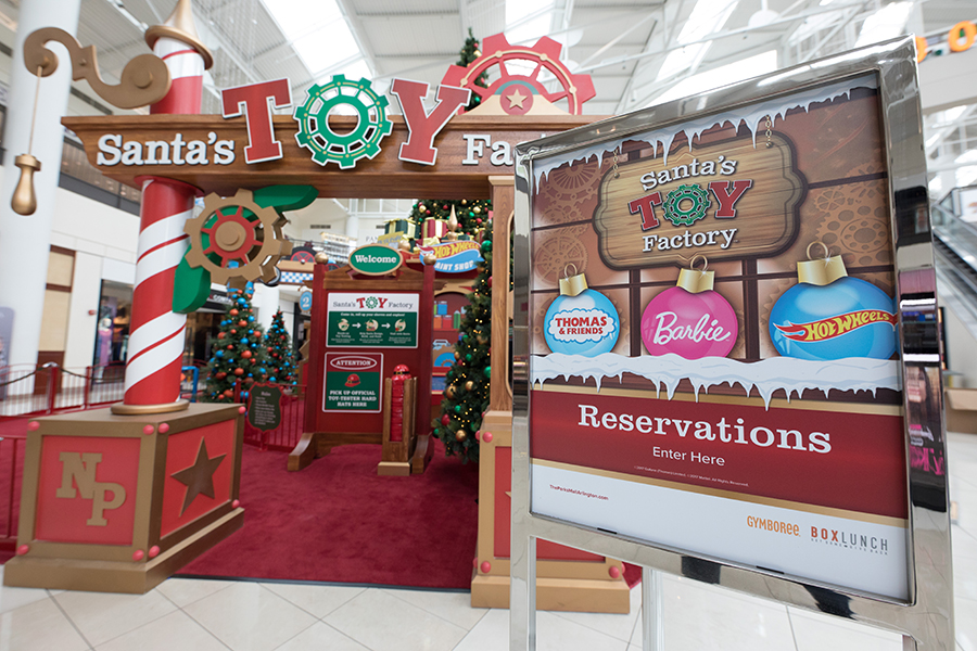 Reservations outside of Santa's Toy Factory