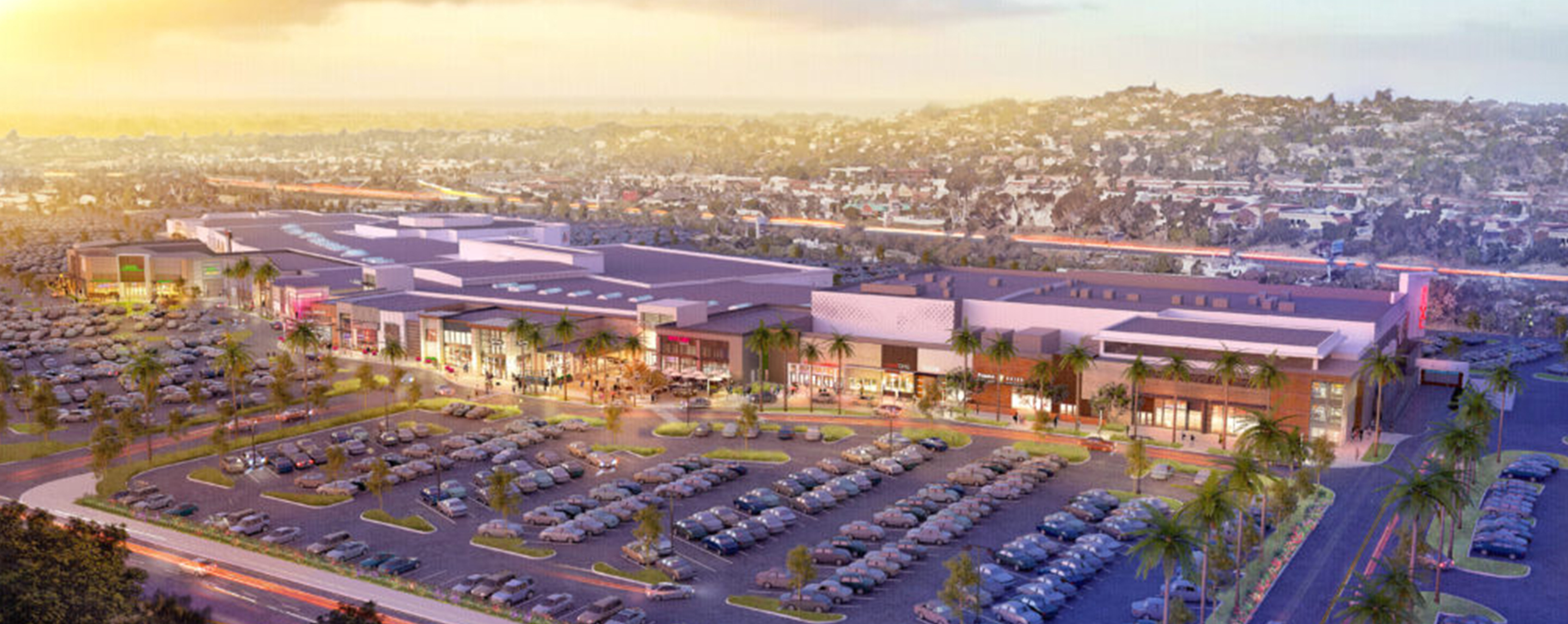 Overhead rendering of The Shoppes at Carlsbad