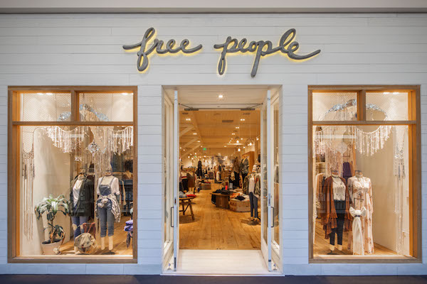 View of Free People at Providence Place