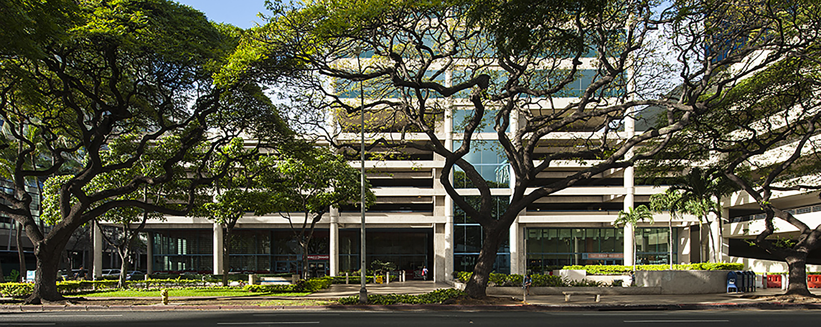 The exterior of the Ala Moana Pacific Center office property