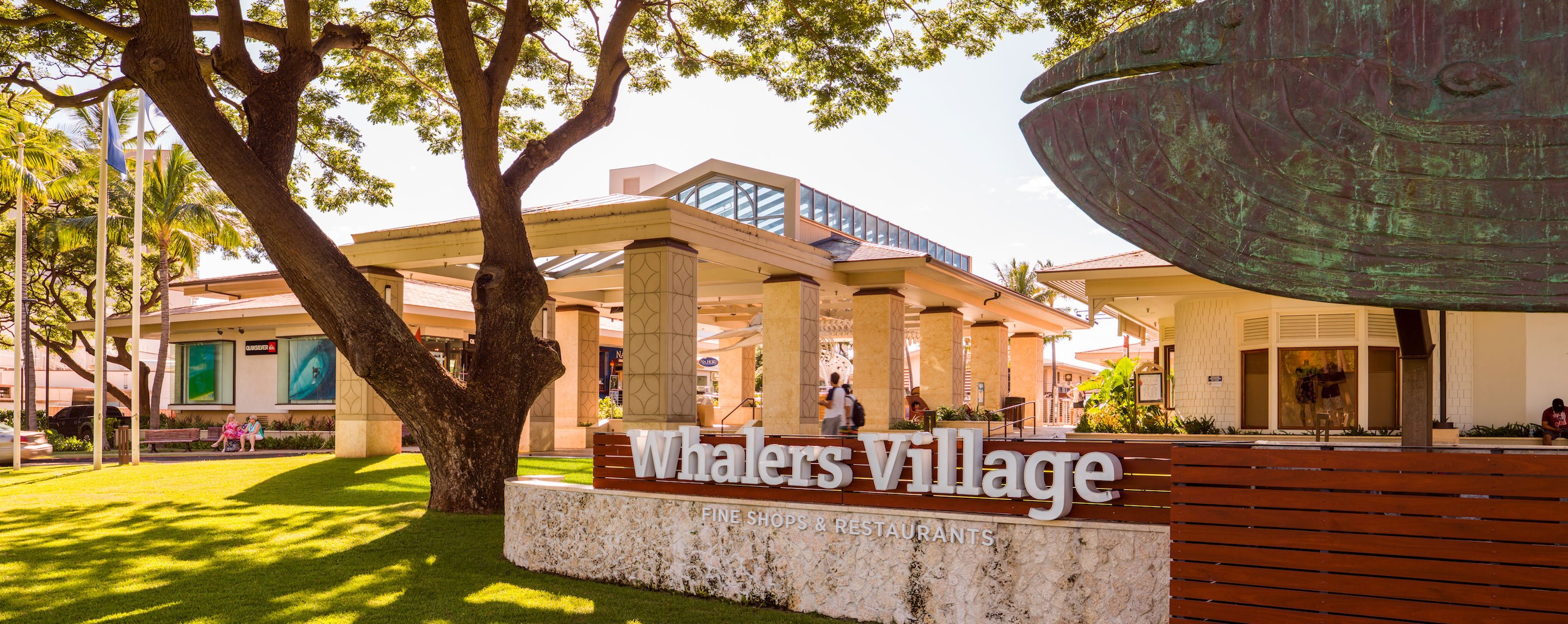 Whalers Village Main Entrance Sign