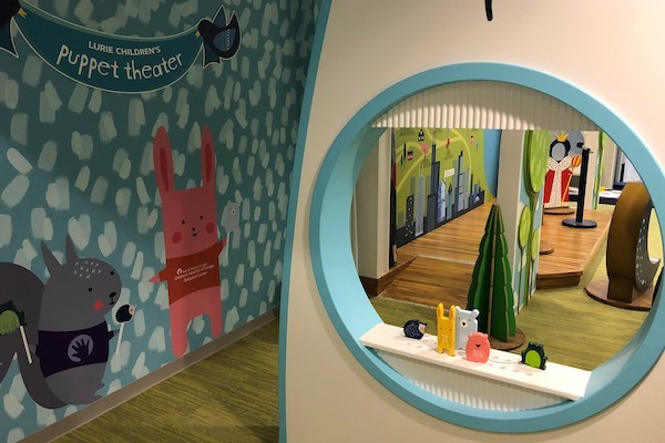 In a common area inside one of our properties, a sponsored play area give children and families another activity in the shoppnig center.
